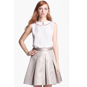 Kate Spade Beatrix White Silk Tank Blouse Collar
